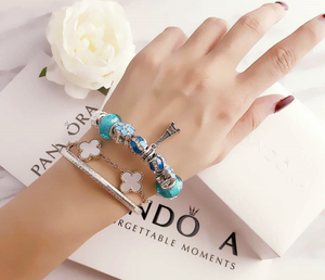 Pandora sea heart theme charm bracelet