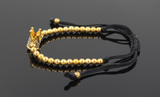 Gold diamond crown beaded elastic hot selling bracelet