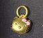 Gold hello kitty pendant charm