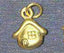 Gold sweet home pendant charm