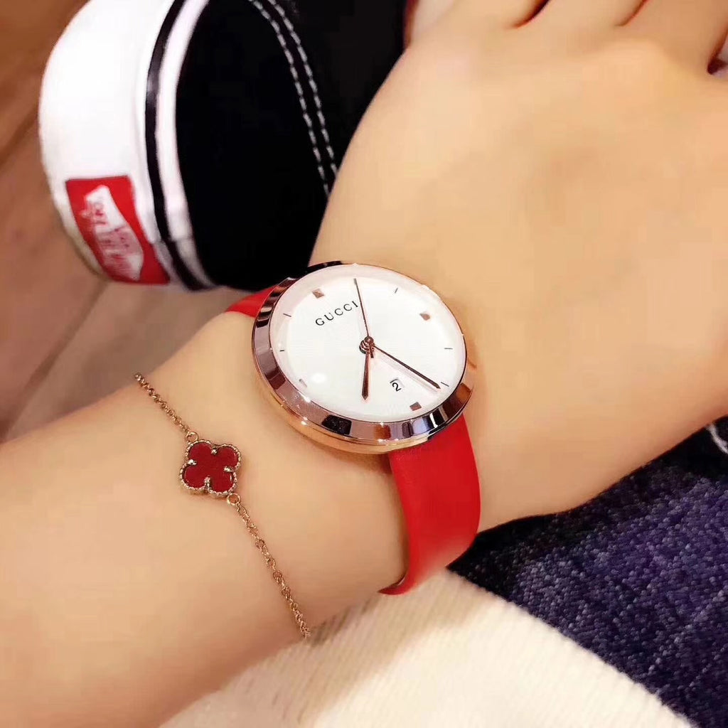 Gucci red 2 pcs watch woman set - Xingjewelry