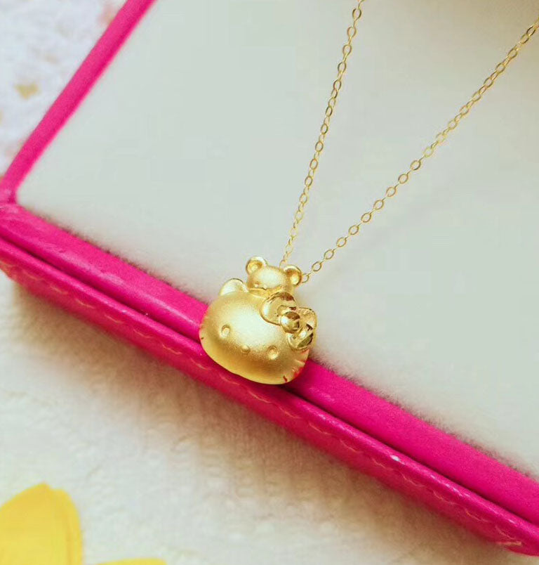 1b770b7a2 Gold Hello Kitty Bracelet with 24k Gold Pendant Necklace for Sale ...