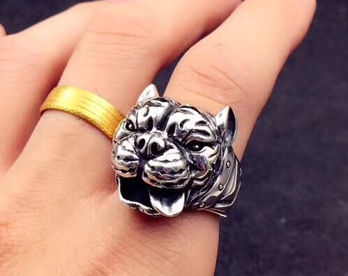 FRENCH BULLDOG SILVER RING