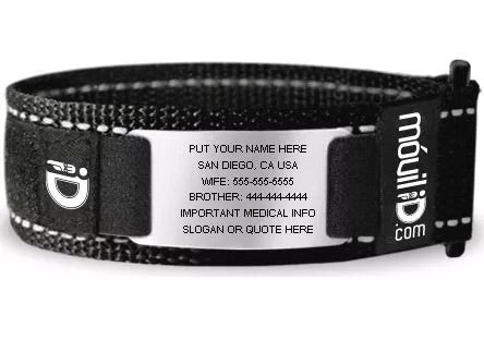 Reflective sports ID wrist band bangle bracelet safety ID bangle - Xingjewelry