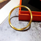24k gold twisted never give up bangle bracelet - Xingjewelry