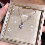 18k gold diamond pendant necklace - Xingjewelry