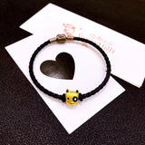 Black eye cute dog 18k gold charm - Xingjewelry