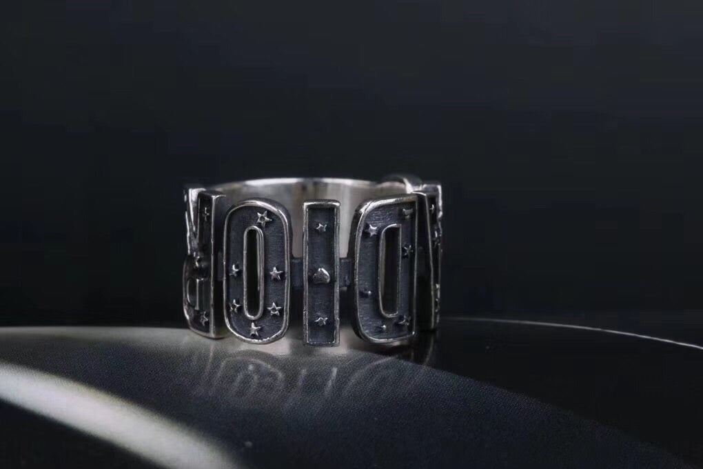 Pure sterling silver Dior ring