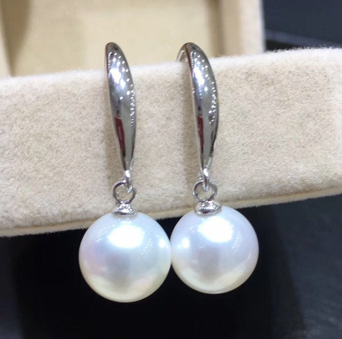 Sterling silver white pearl earring