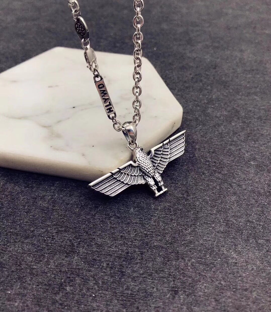 Boy branded eagle pendant necklace - Xingjewelry