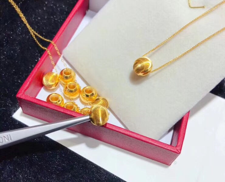 24k gold cateye pendant necklace