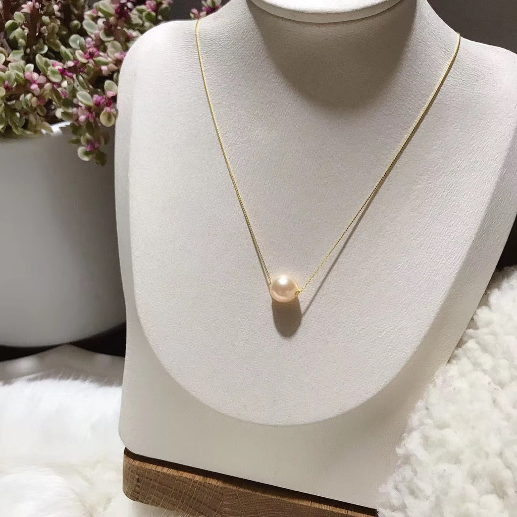 18k gold fresh water pearl necklace