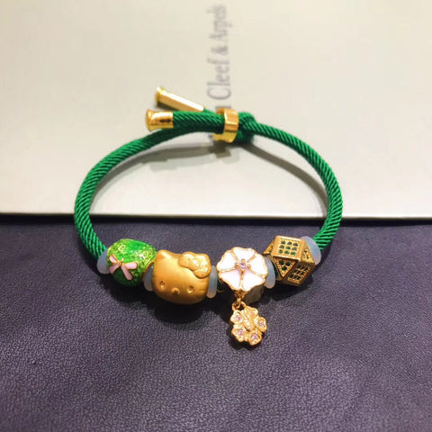 18K hello kitty spring green bracelet - Xingjewelry