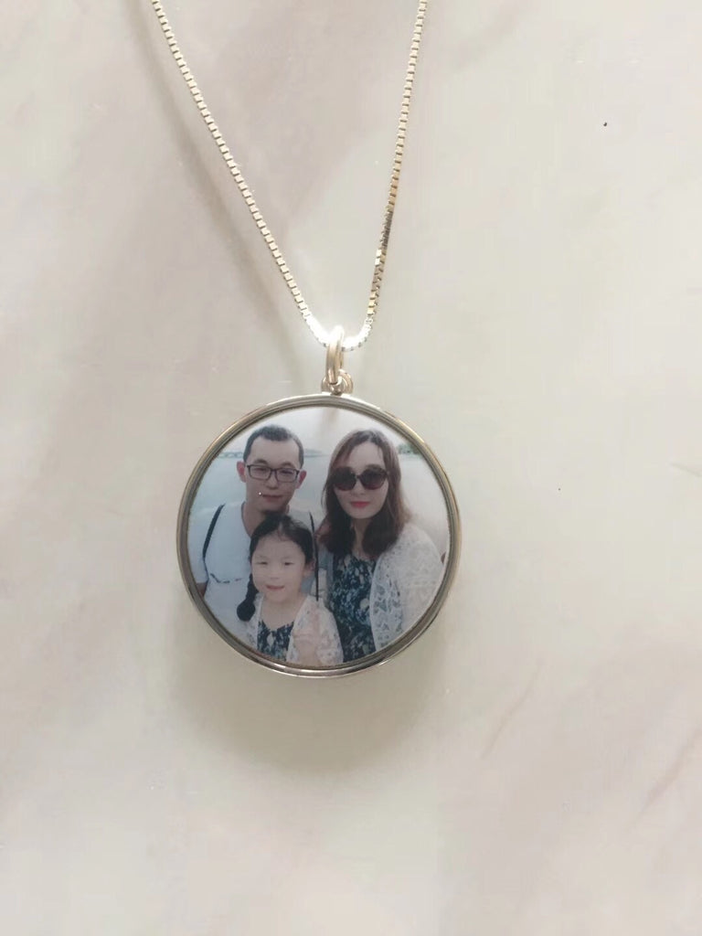 925 sterling silver family photo charm