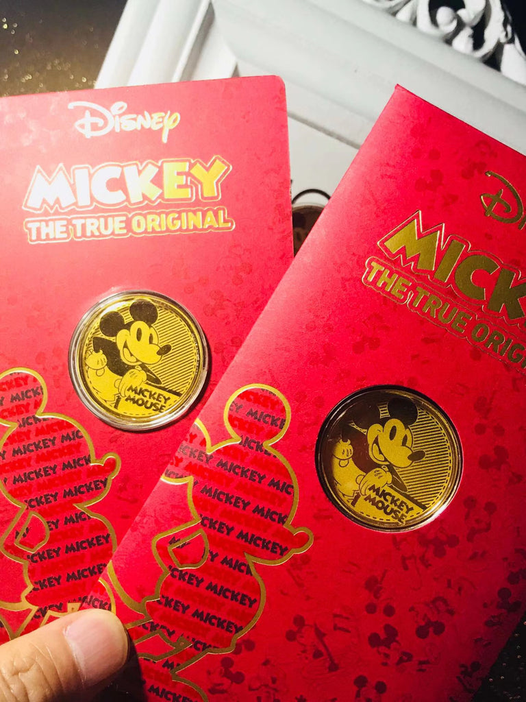 18k gold Mickey Mouse Disney coin anniversary