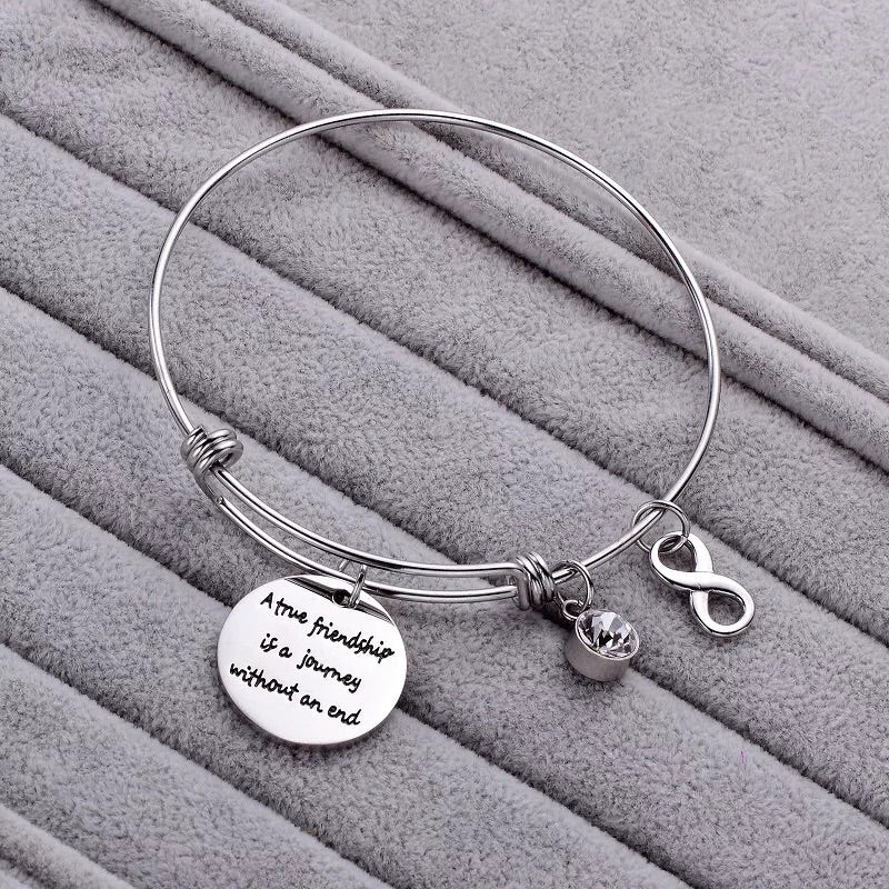 Friends push bangle bracelet
