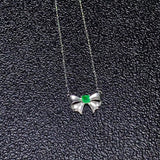 18k gold butterfly pendant necklace