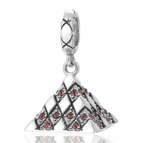 925 sterling silver louvre museum charm bead - Xingjewelry