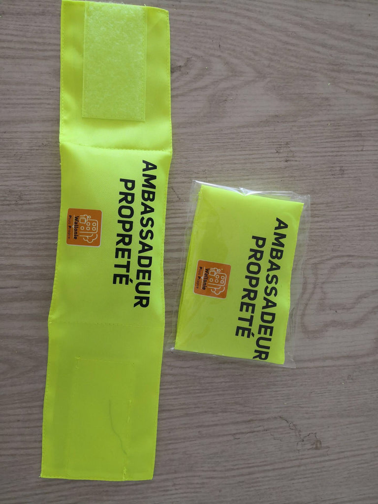 Polyester Oxford reflective Velcro safety ID band