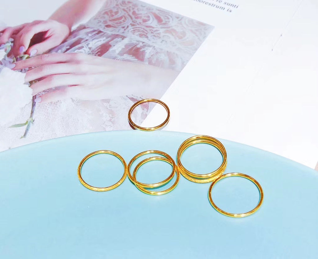 18k gold wedding ring engagement ring each pc