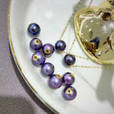 18k gold in purple Tahitian pearl necklace 金大溪地紫珍珠单颗项链