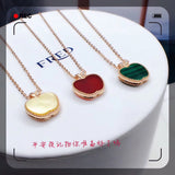 New 18k gold Christmas Eve apple pendant necklace hot