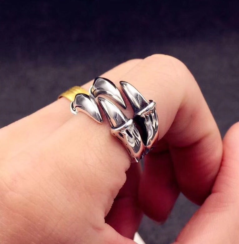 BOY LONDON eagle claw open ring - Xingjewelry