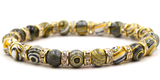 gold color anaceous stone beaded elastic bracelet
