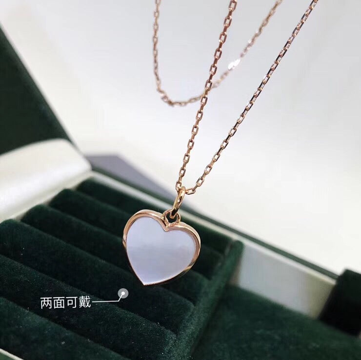 18k gold heart love pendant necklace - Xingjewelry