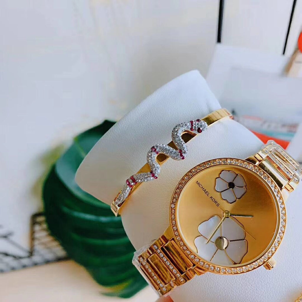 Michael Kors 3 pcs set golden gift