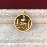 18k gold round tag personalized pendant - Xingjewelry