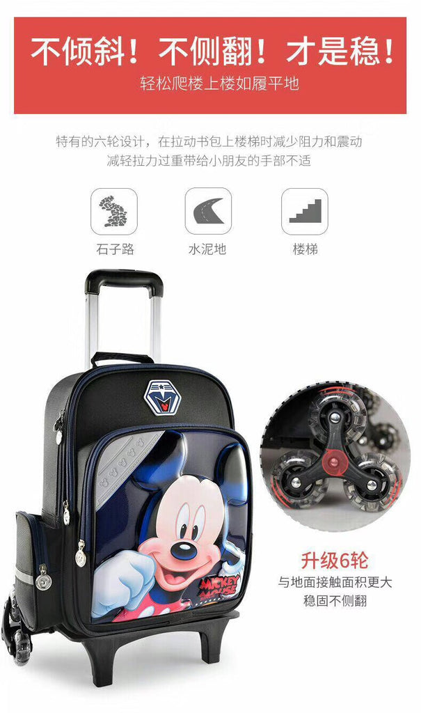 Disney school student pull through luggage case