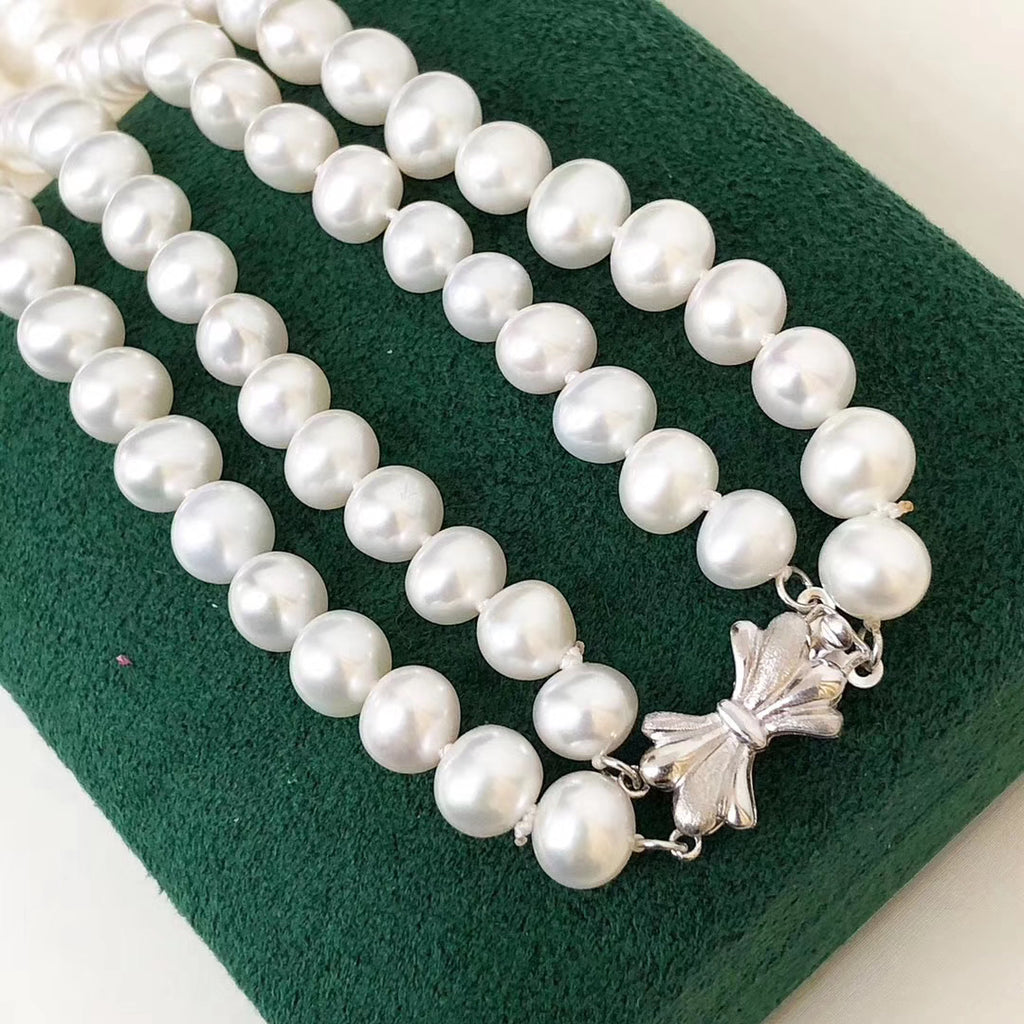 Fresh water pearl vintage design necklace