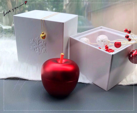 Christmas red apple jewelry box - Xingjewelry