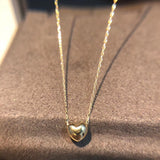 Elegant Gold heart necklace - Xingjewelry