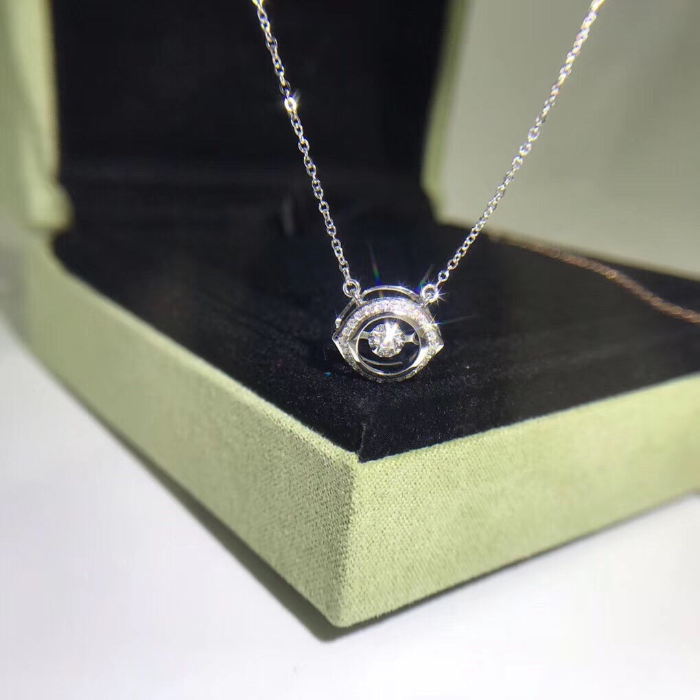 18k gold clever eye platinum pendant necklace - Xingjewelry