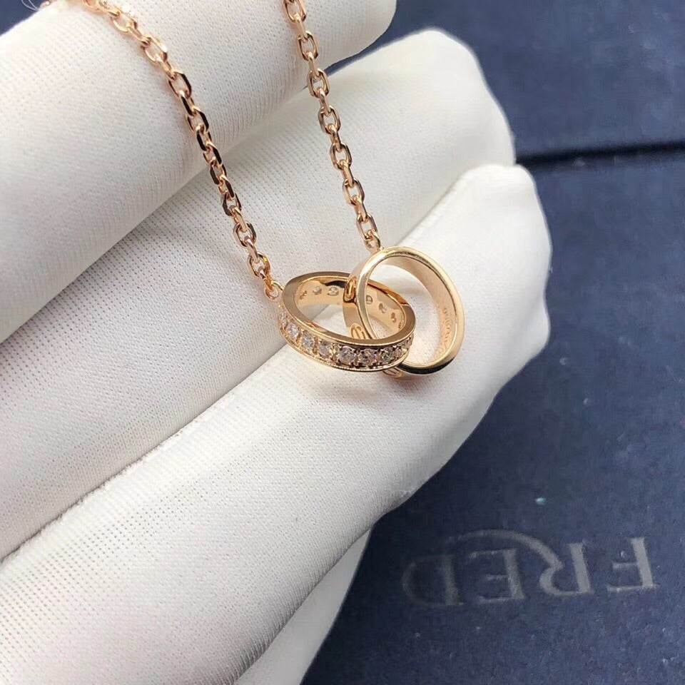 18k gold ring pendant necklace - Xingjewelry