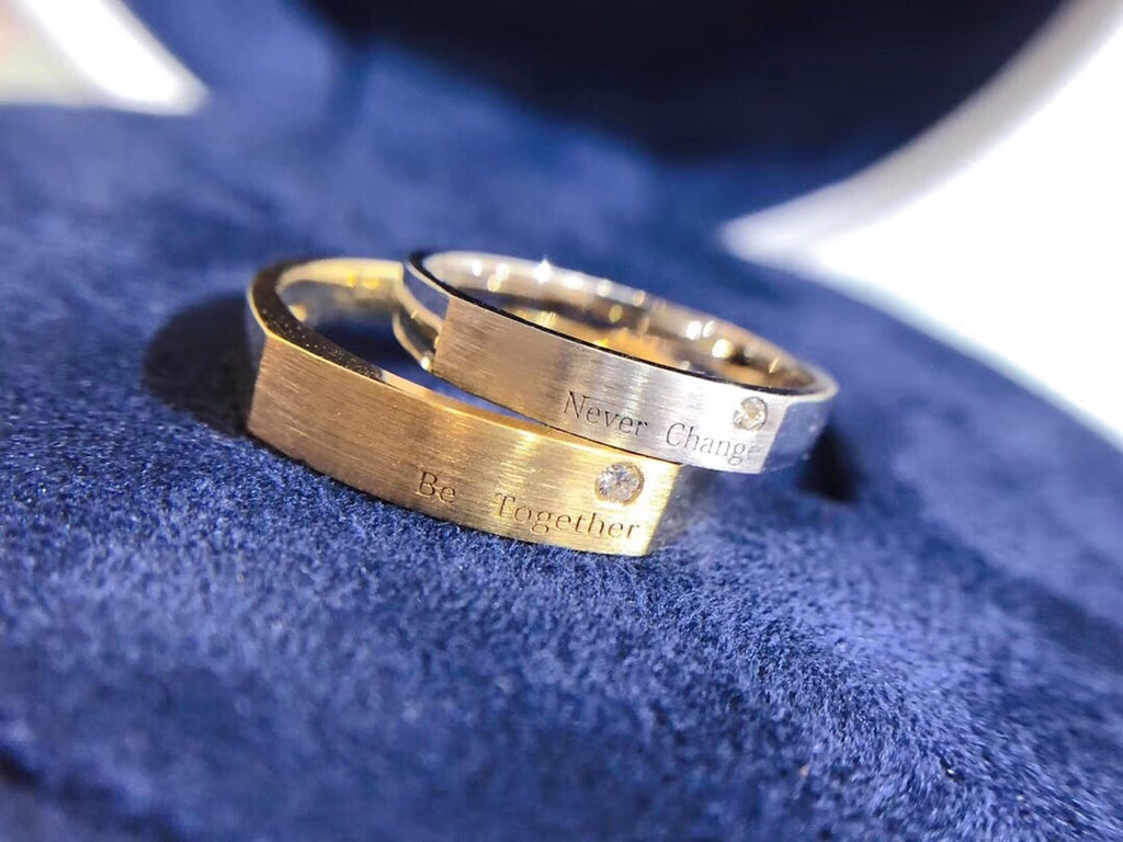 18k gold couple lover's  ring - Xingjewelry