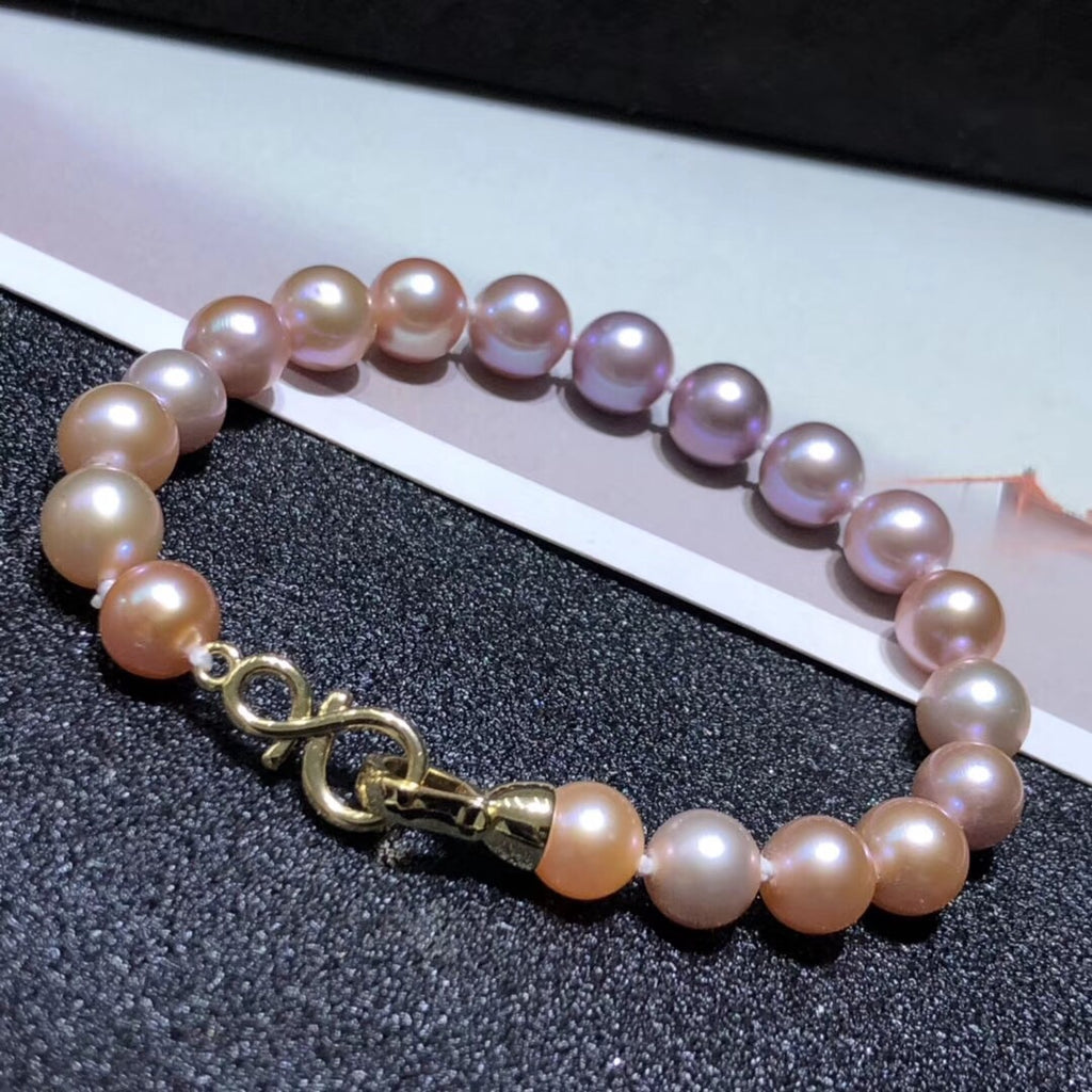 Natural fresh water 8 mm pearl bracelet