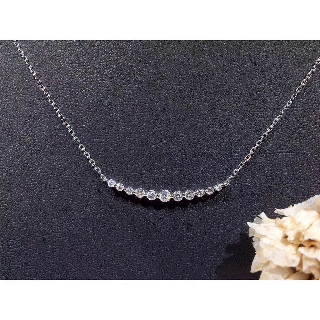 18k gold diamond necklace - Xingjewelry