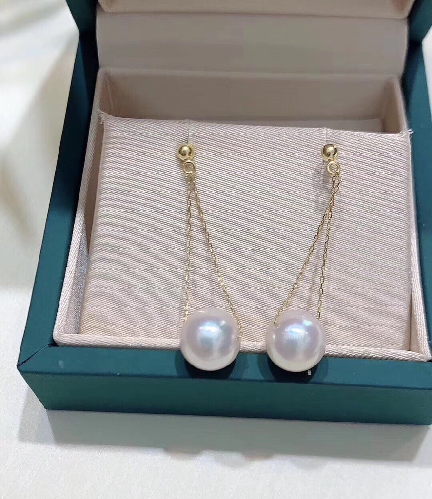 925 sterling silver white pearl earring
