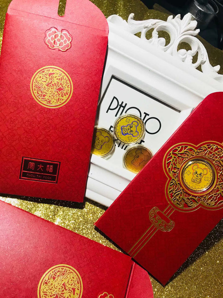 18k gold mouse red envelope limited coin 流行金币红包