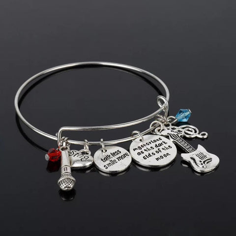 Alloy metal music charm bracelet