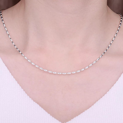 925 sterling silver beaded necklace - Xingjewelry