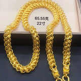 999 solid gold men necklace - Xingjewelry