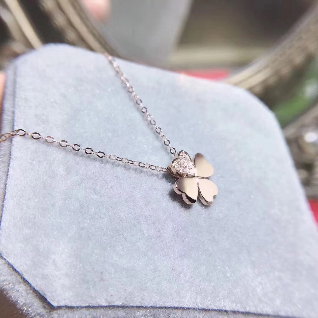 18k gold clover necklace - Xingjewelry