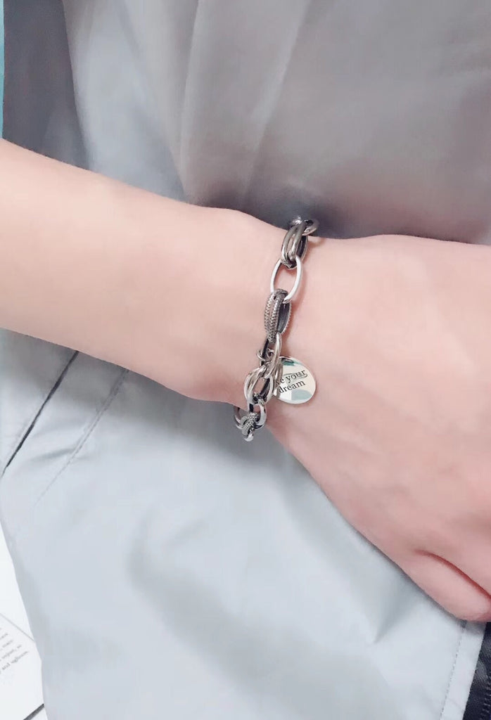 Silver live your dream bracelet