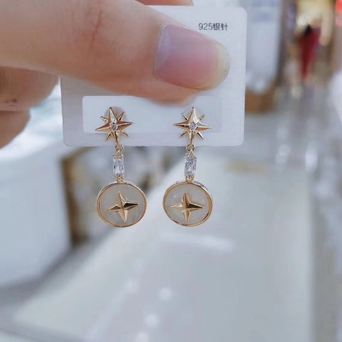 925 sterling silver Star earring