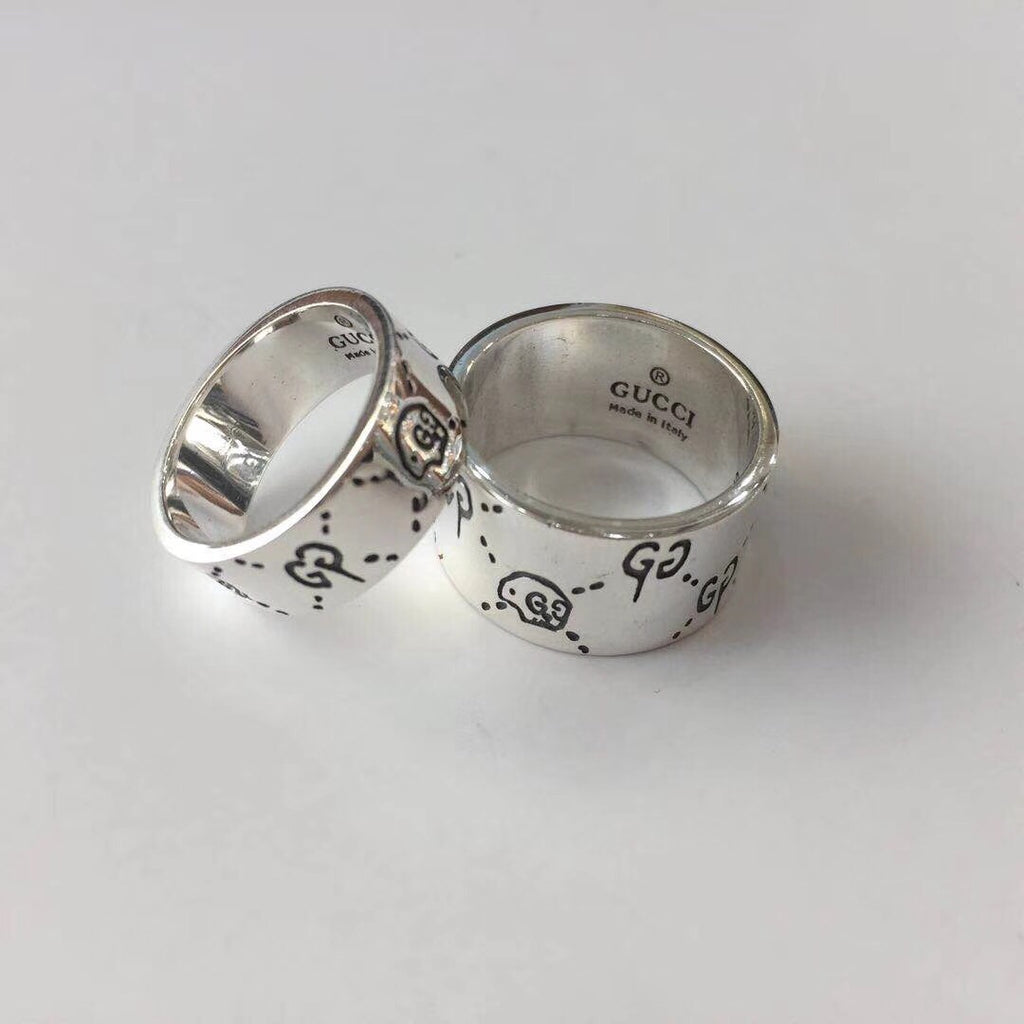 Gucci silver ring bigger size and normal - Xingjewelry