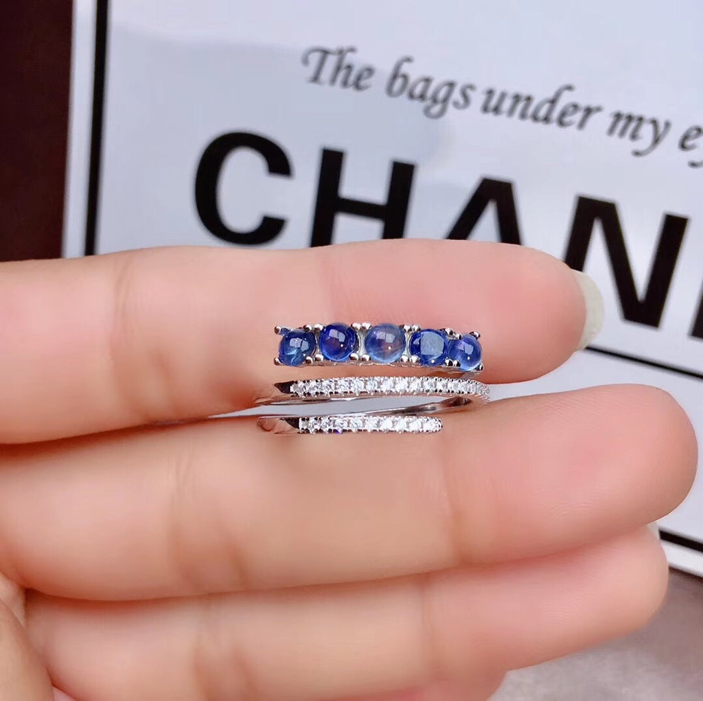 925 sterling silver sapphire stone diamond ring